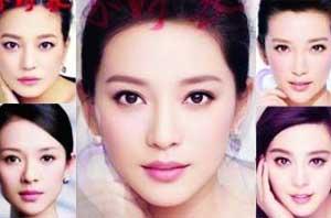 将几个女明星的清晰正脸照合成一张脸